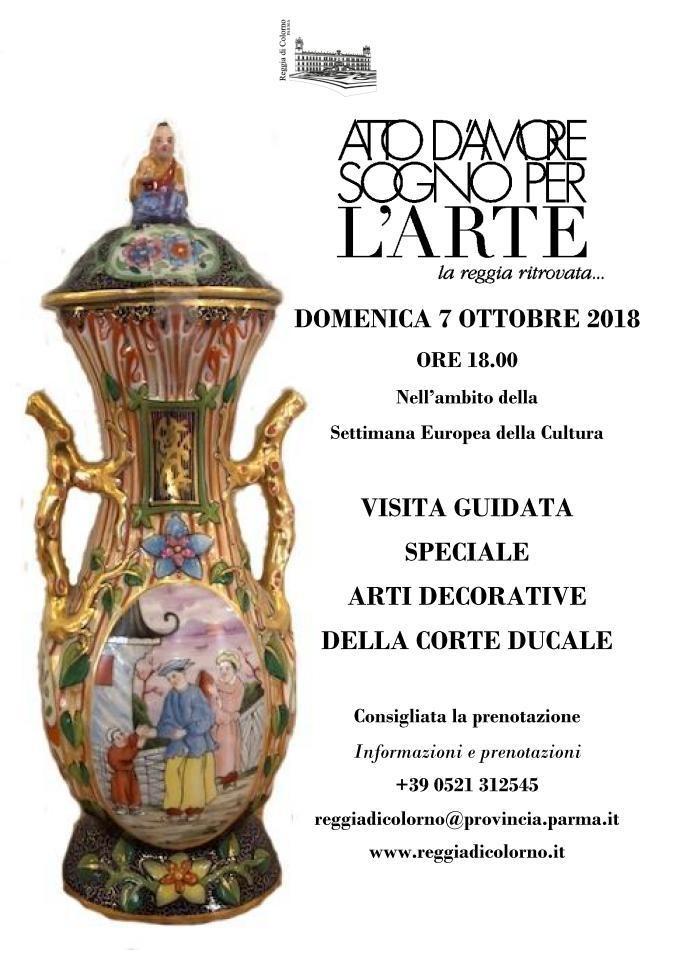 """""""Atto d'amore sogno per l'arte"""" visita guidata arti decorative della corte ducale"""