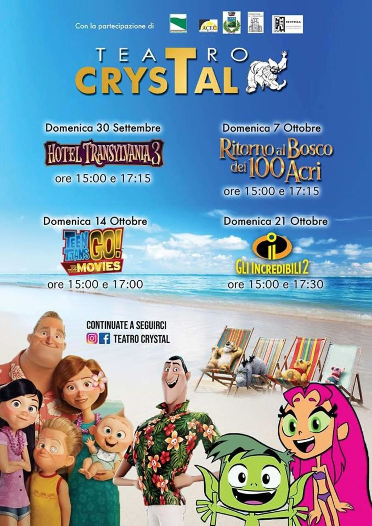 Cinema al Crystal: al via la nuova stagione