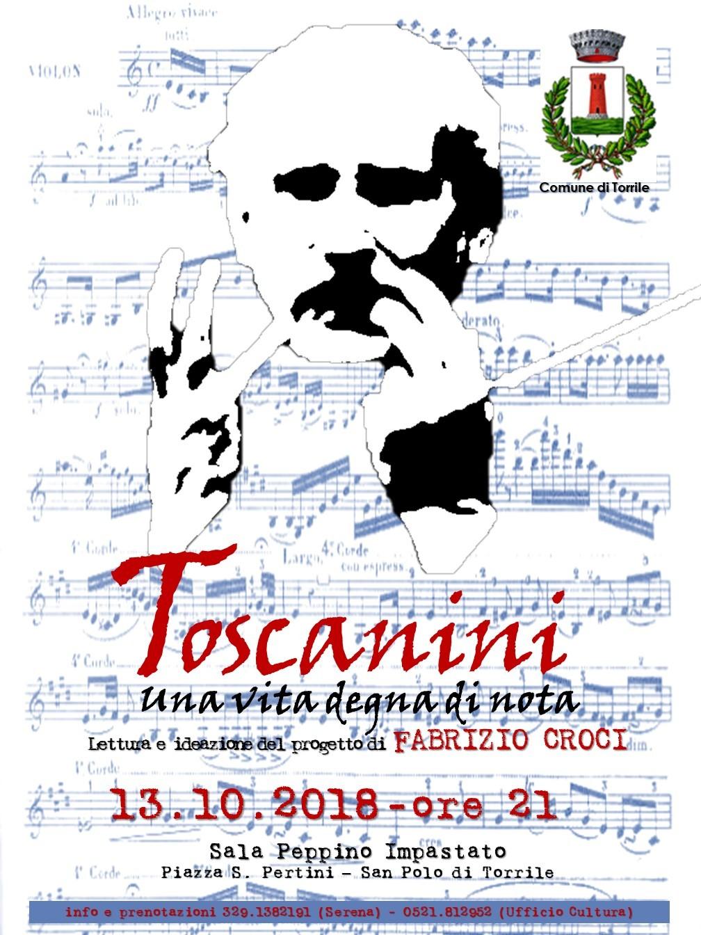 """""""Toscanini. Una vita degna di nota"""" reading di Fabrizio Croci"""