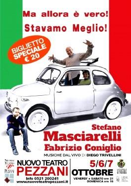 Promozione spettacolo MA ALLORA E' VERO!STAVAMO MEGLIO!  di e con Stefano Masciarell