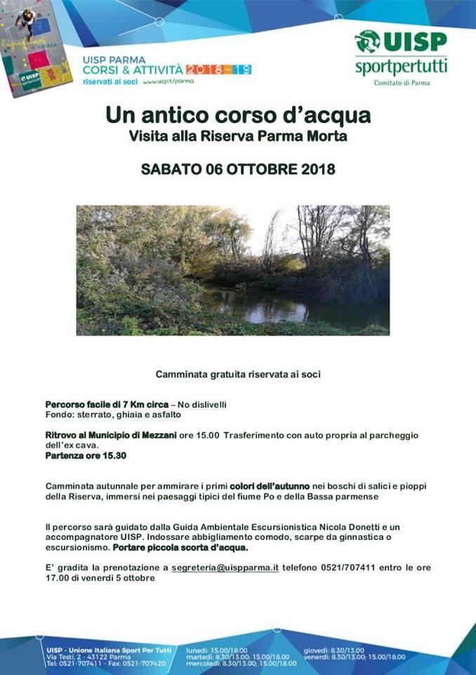 Un antico corso d'acqua, visita alla riserva Parma Morta
