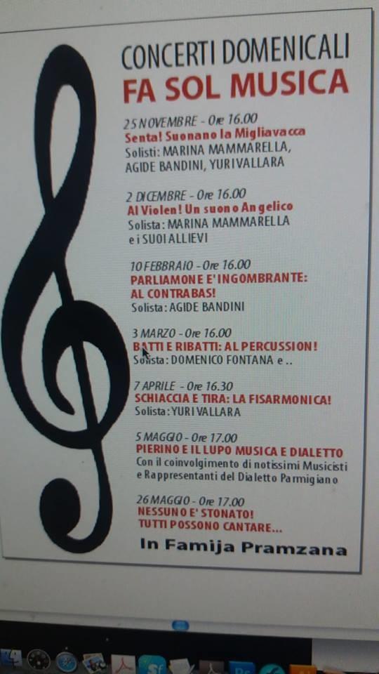 FA SOL MUSICA Concerti domenicali in Famija Pramzana