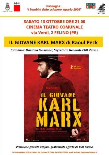 """Rassegna """" I bambini dello sciopero agrario 1908"""" : ll giovane Karl Marx di Raoul Peck"""
