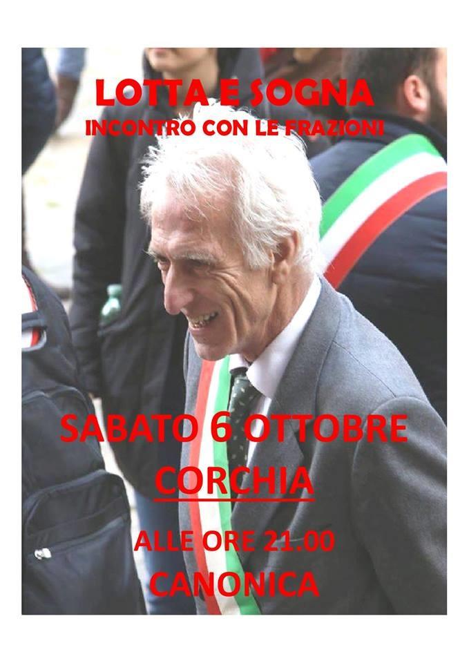 Luigi Lucchi incontra i cittadini a Corchia