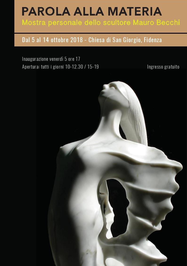 Parola alla materia, mostra personale dello scultore Mauro Becchi