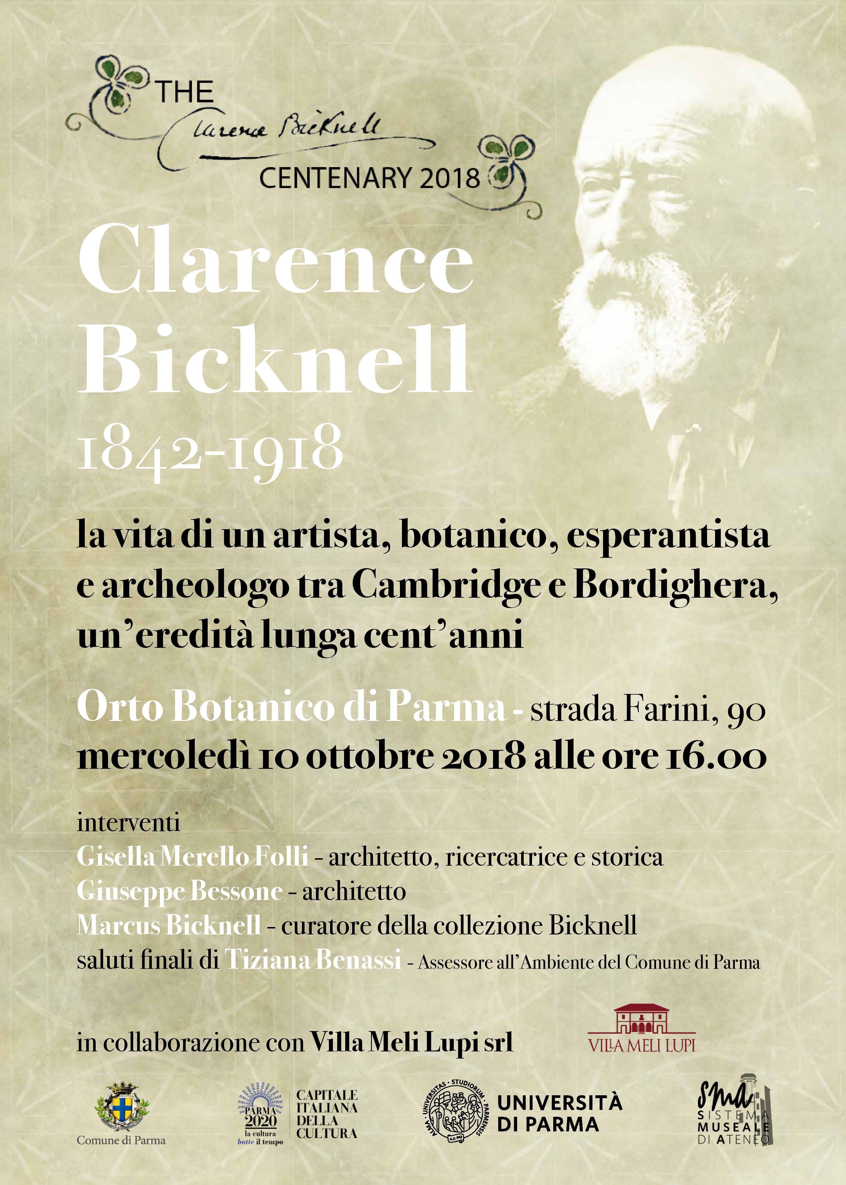 ALL'ORTO BOTANICO SEMINARIO SULL'ARTISTA E BOTANICO CLARENCEBICKNELL