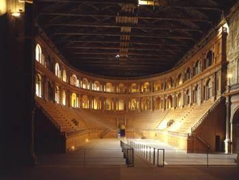 La galleria del Teatro al  Teatro Farnese