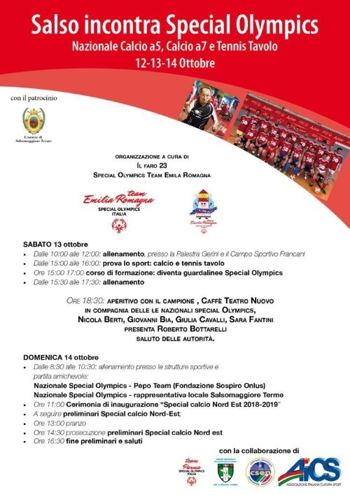 Salso incontra Special Olympics
