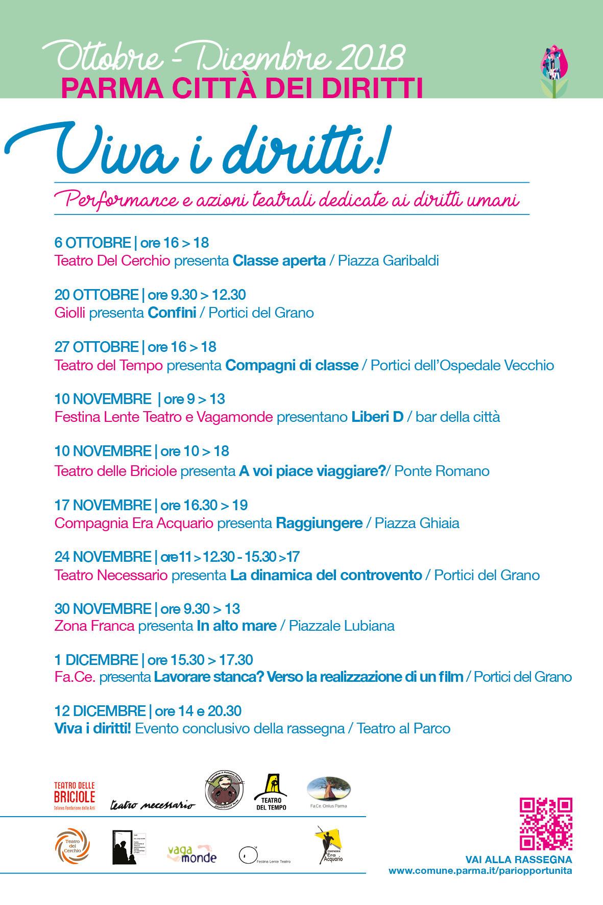 Parma città dei diritti  Eventi, performance e azioni teatrali