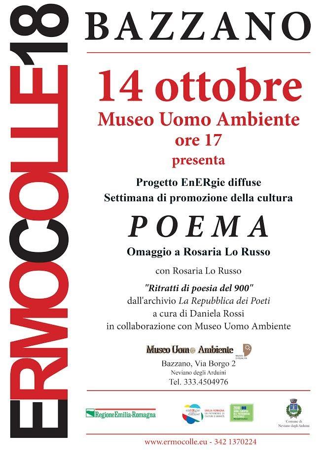 POEMA Omaggio a Rosaria Lo Russo al Museo Uomo Ambiente