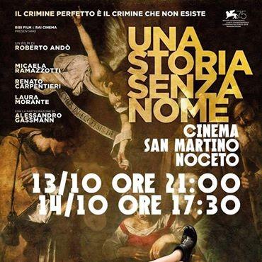 Al Cinema San Martino Noceto UNA STORIA SENZA NOME