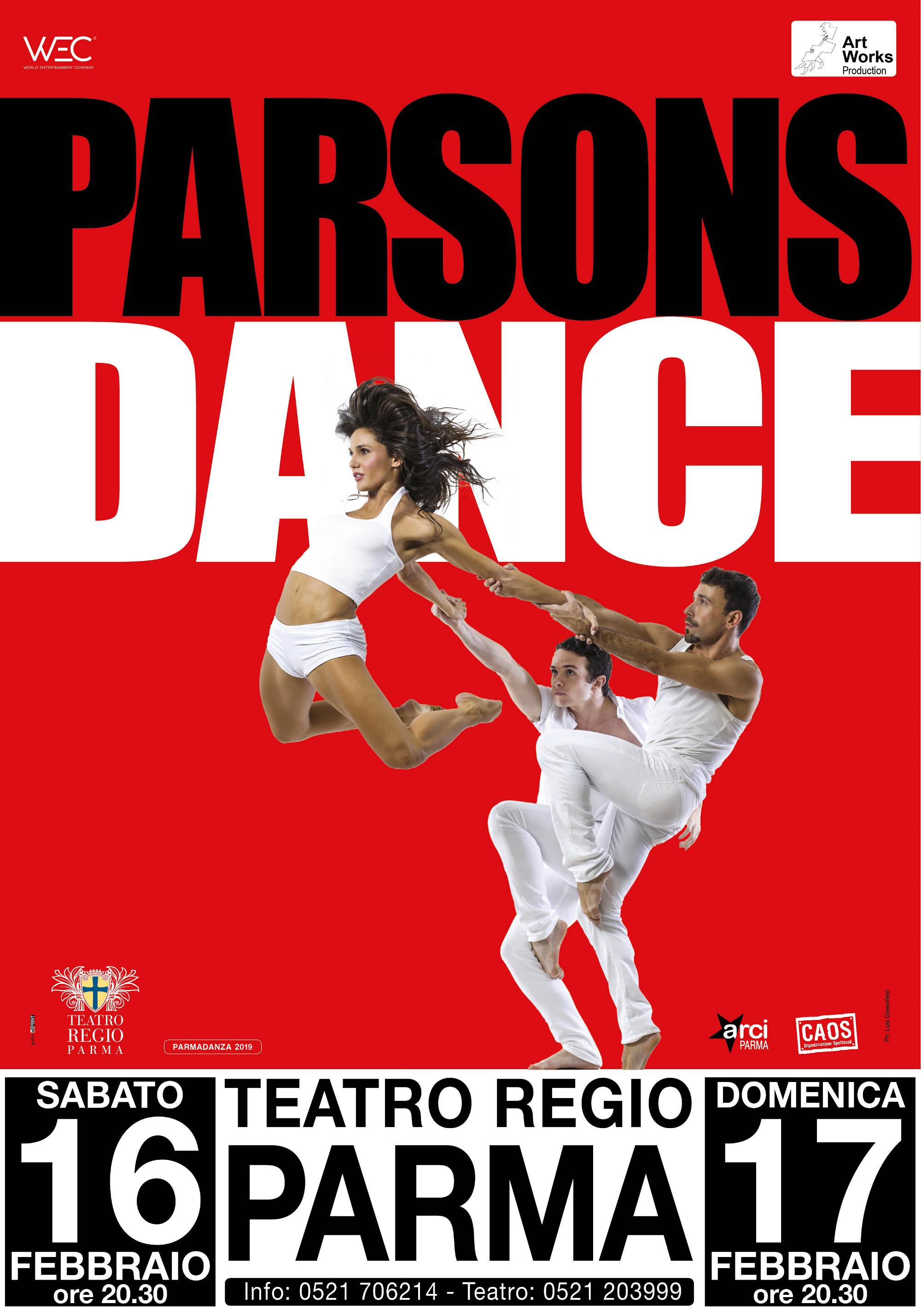 """A PARMADANZA 2019:  """"Parsons Dance"""""""