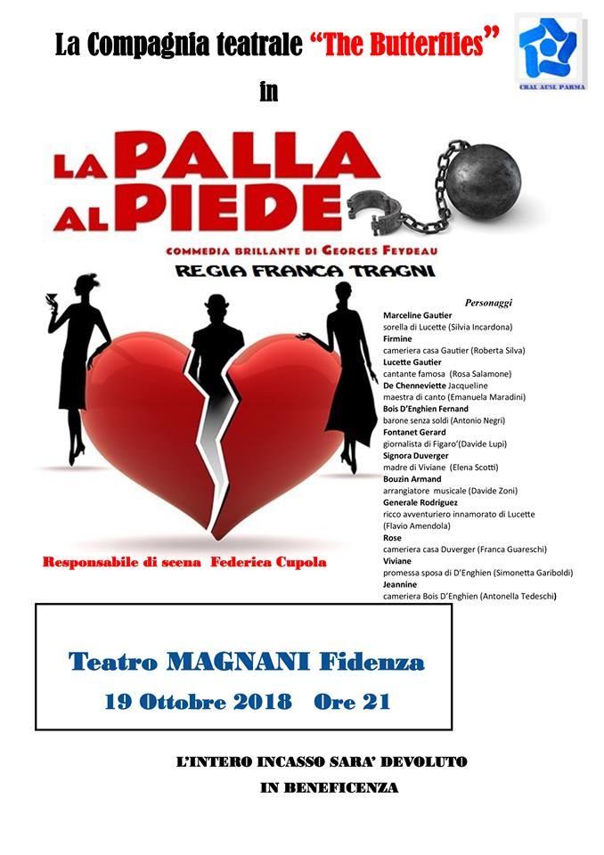 LA PALLA AL PIEDE commedia brillante  al Teatro Magnani