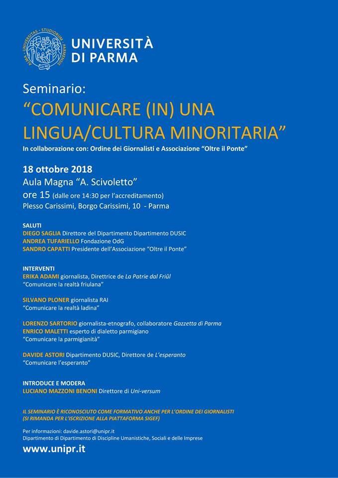 Comunicare (in) una lingua/Cultura minoritaria