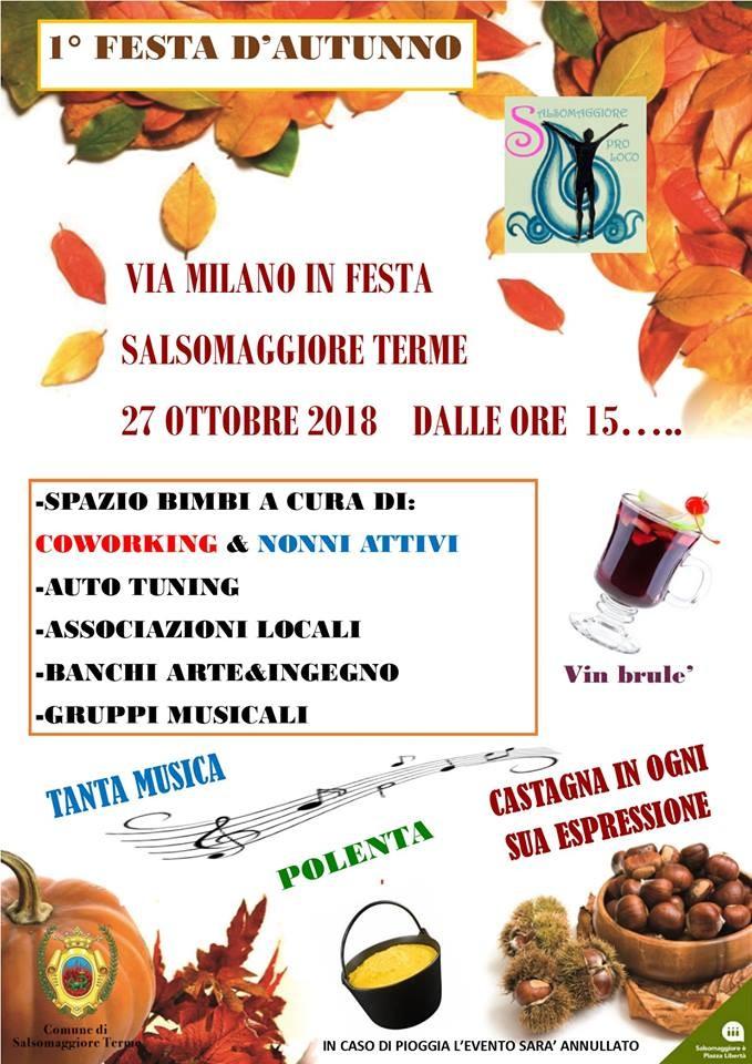 '1°Festa di Autunno' a Salsomaggiore Terme in Via Milano