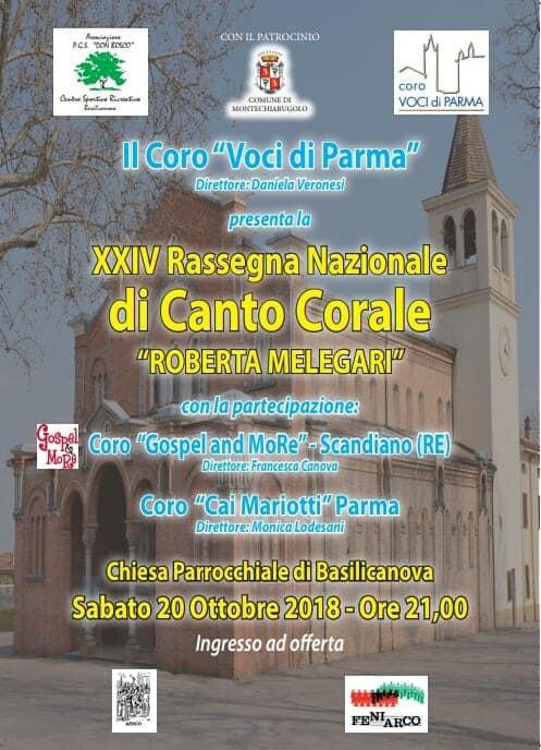 Rassegna nazionale di canto corale a Basilicanova