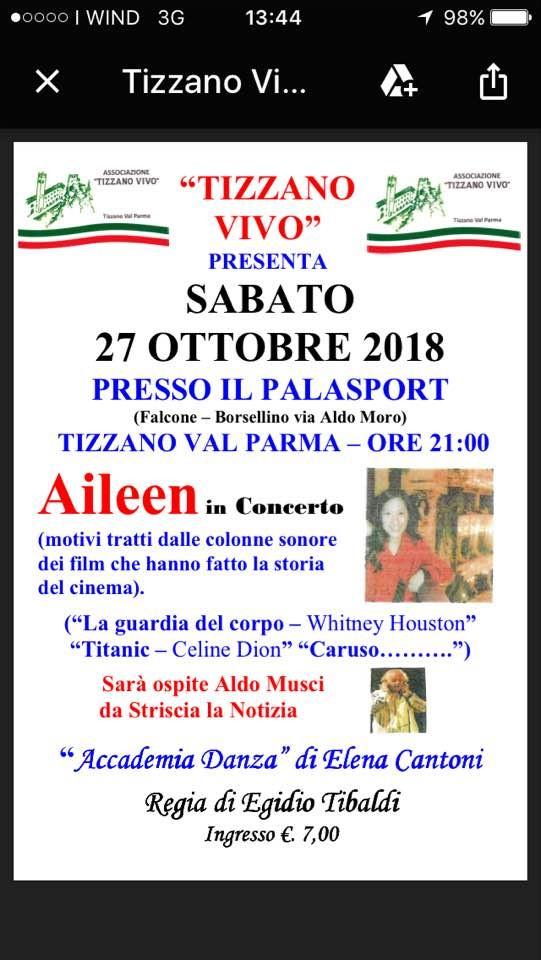 Aileen in concerto a Tizzano