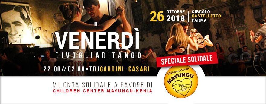 Il venerdì di Voglia di tango, milonga solidale