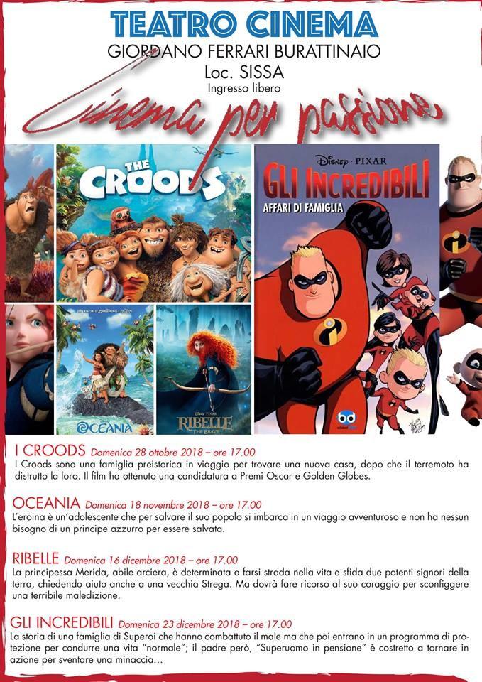 """"""" Cinema per passione"""" a Sissa"""