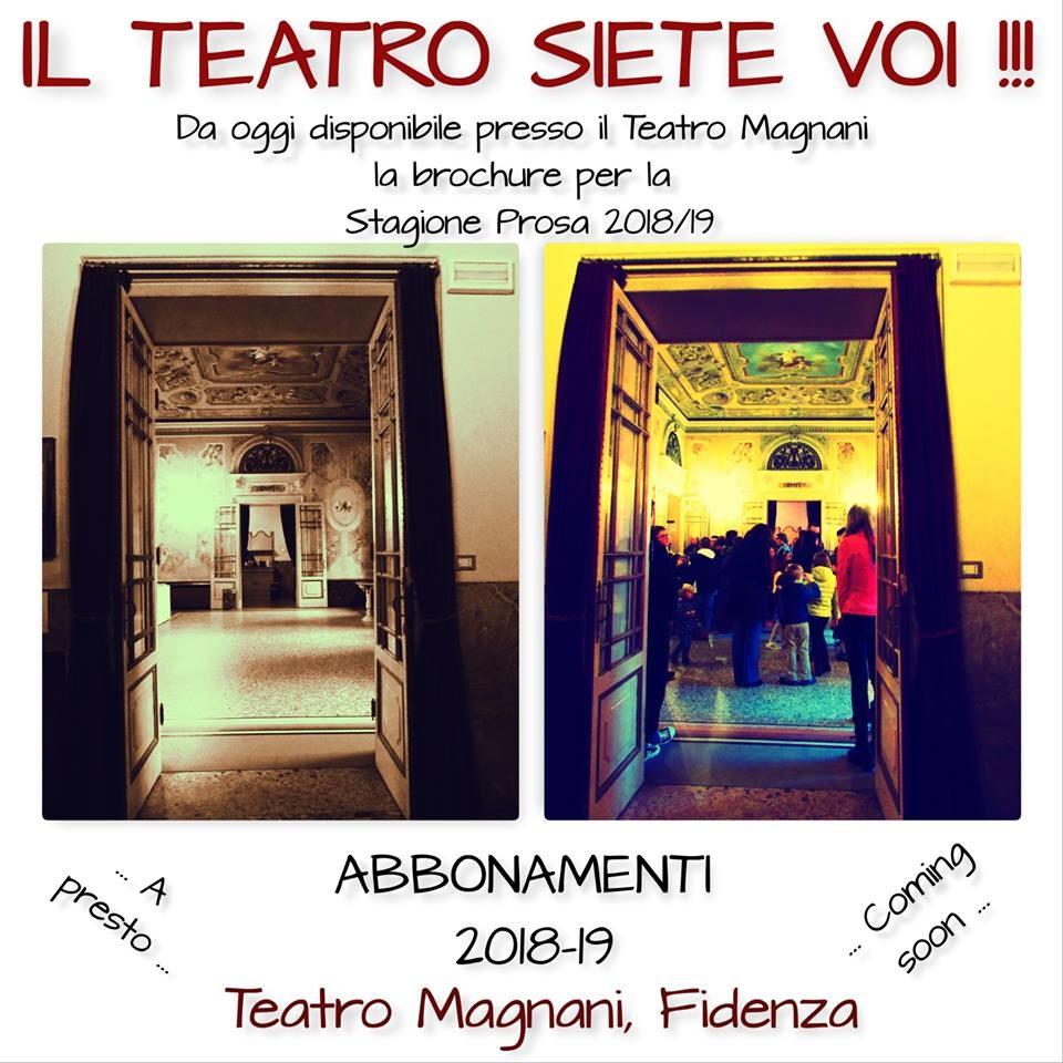 Biglietti e abbonamenti stagione teatrale del Magnani