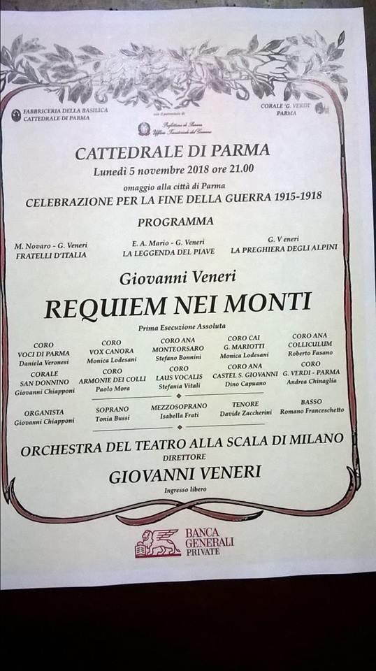"""Requiem nei monti"" in Cattedrale"