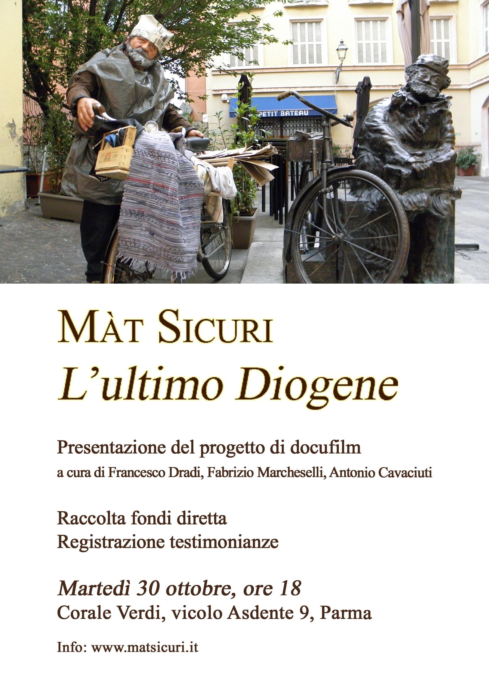 """Presentazione del progetto """"Màt Sicuri - L'ultimo Diogene"""""""