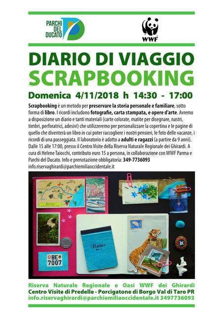 DIARIO DI VIAGGIO SCRAPBOOKING   Domenica 4 Novembre laboratorio per adulti e ragazzi