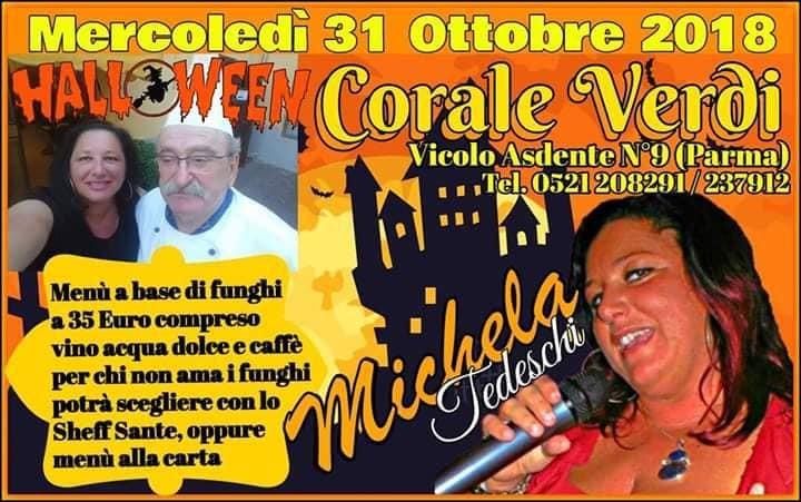 Halloween al ristorante Corale Verdi con la musica di Michela Tedeschi