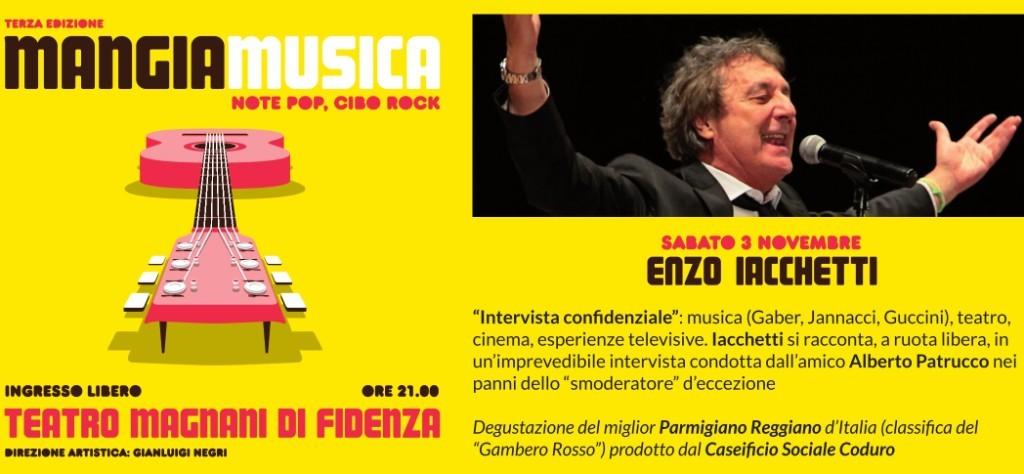"""Enzo Iacchetti in """"Intervista confidenziale"""" a Mangiamusica"""