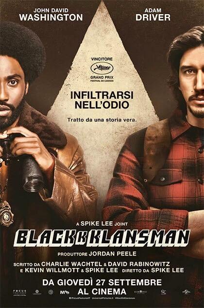 """BLACKKKLANSMAN"" a Mycinem@ - Fidenza"