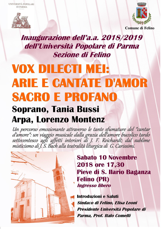 """Vox dilecti mei: arie e cantate d'amor sacro e profano"""""""
