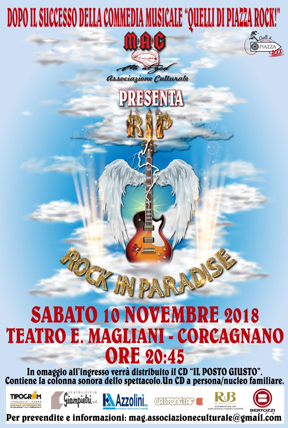 Rock in paradise al teatro Ennio Magliani