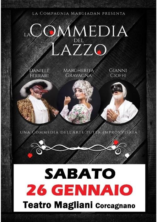 """""""La commedia del lazzo"""" al teatro Ennio Magliani"""