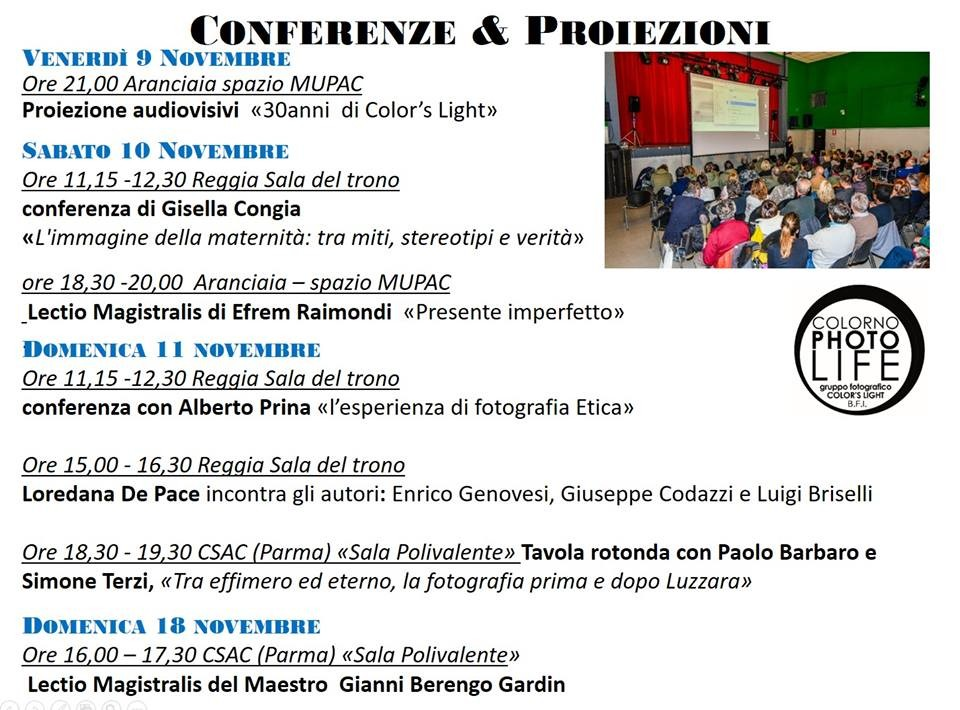 Le conferenze del Colornophotolife