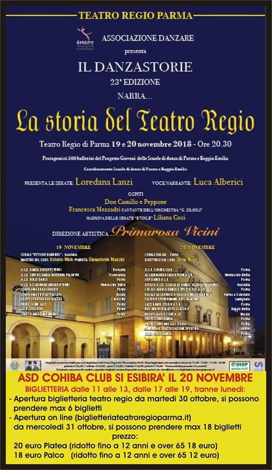 """Il danzastorie narra """"La storia del Teatro Regio"""""""