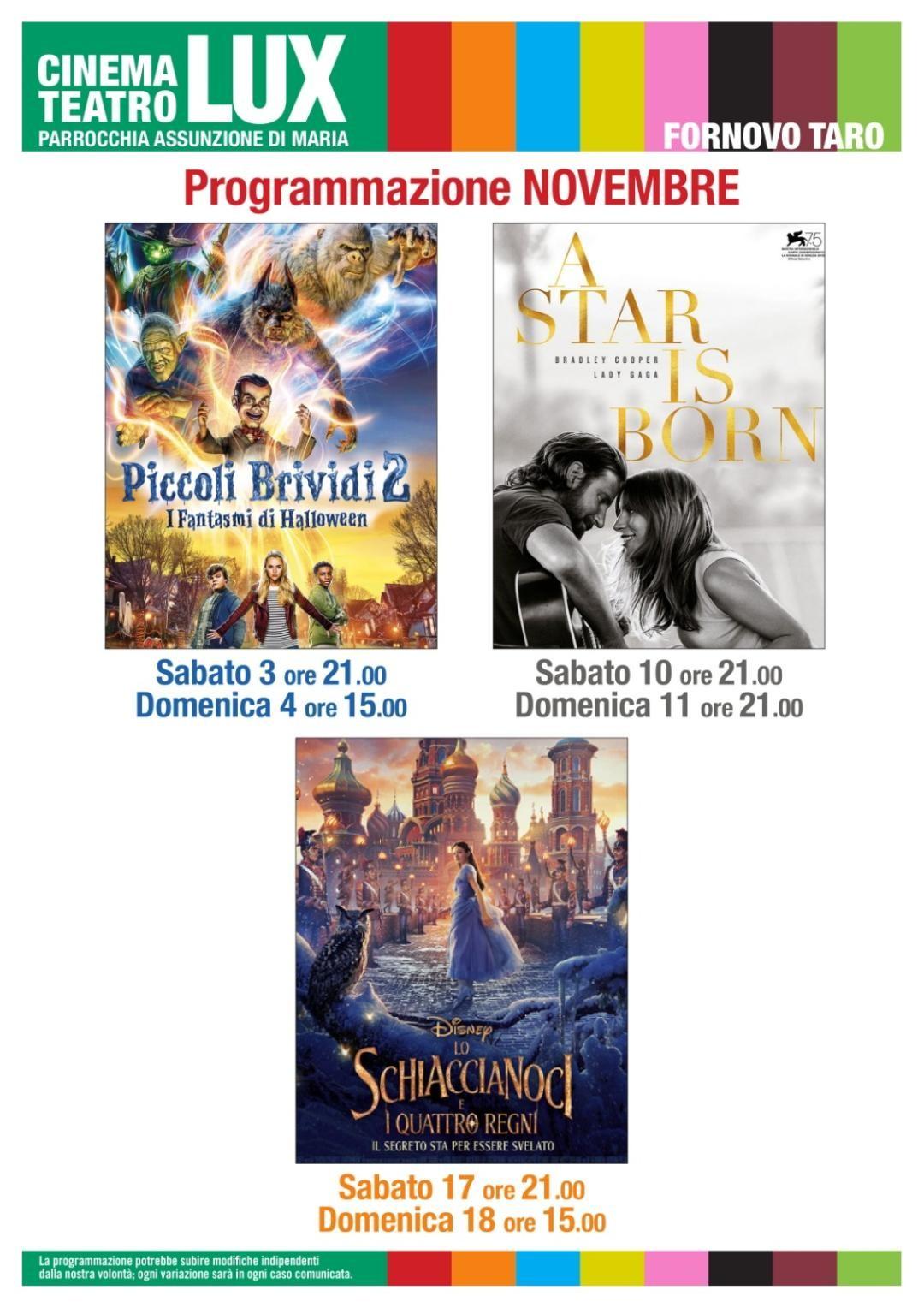 """Al Cinema LUX a Fornovo """"Piccoli Brividi 2"""""""