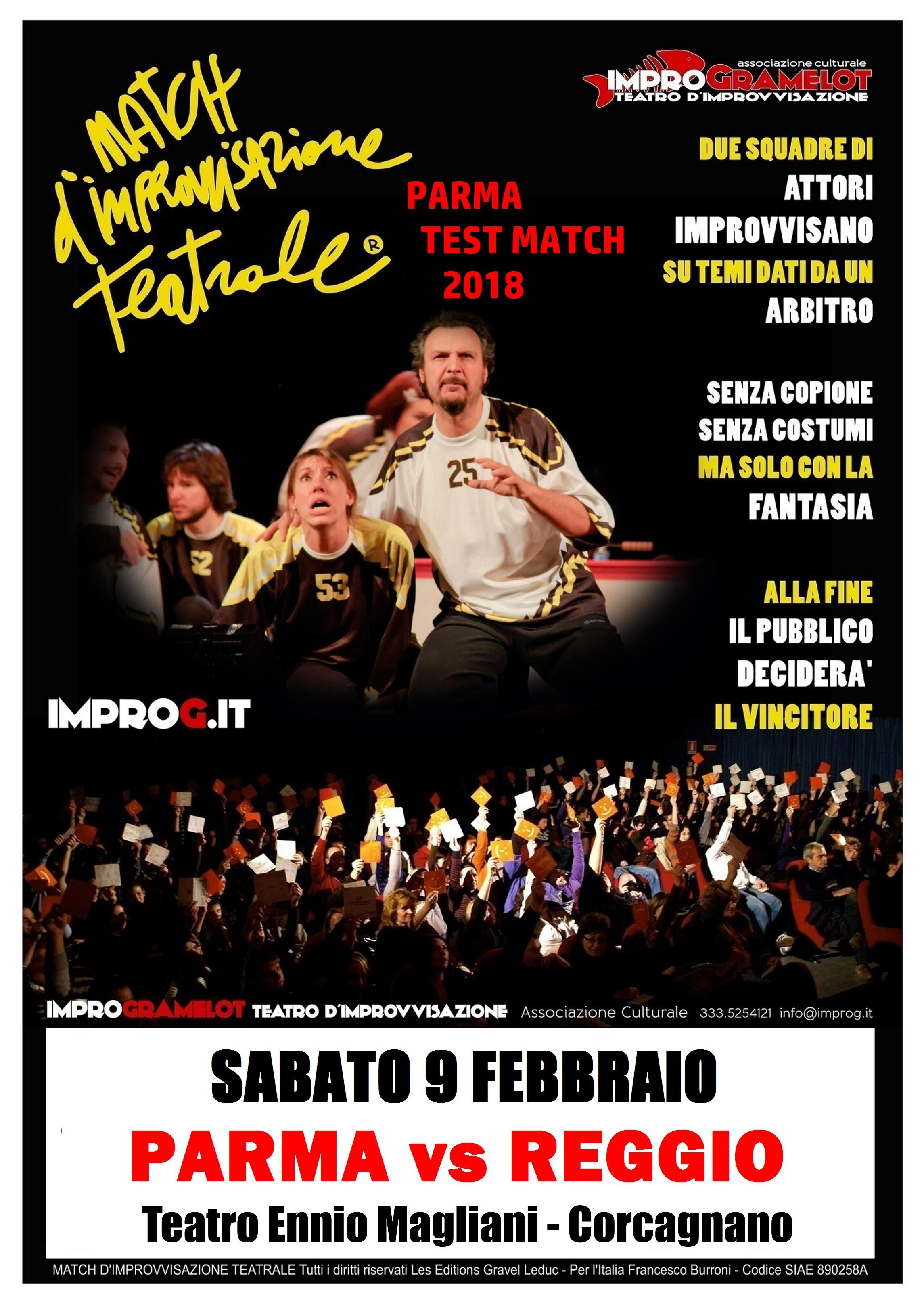 Match d'improvvisazione teatrale al teatro Magliani: Parma vs Reggio