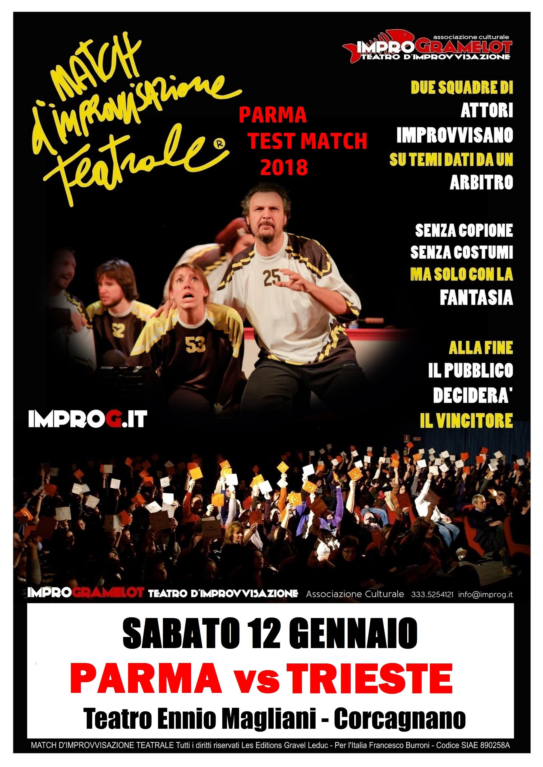 Match d'improvvisazione teatrale al teatro Magliani: Parma vs Trieste