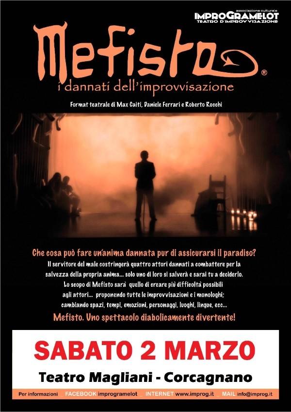 """""""Mefisto, i dannati dell'improvvisazione""""  al teatro Ennio Magliani"""