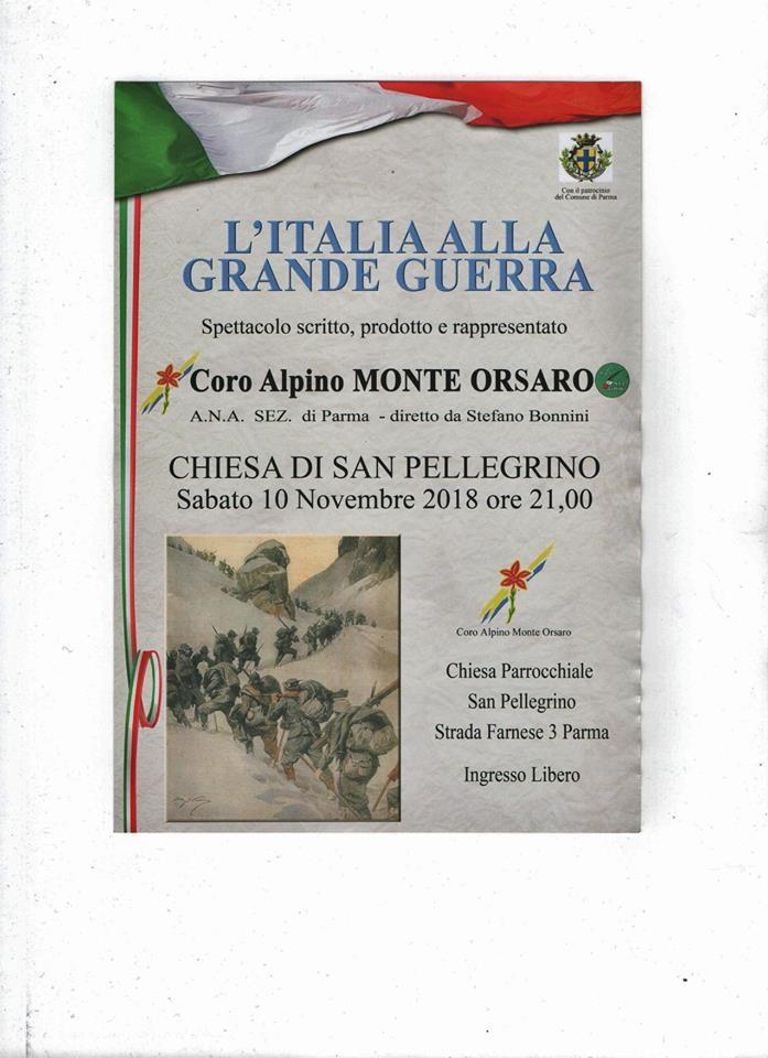 L'Italia alla Grande Guerra, spettacolo nella chiesa di San Pellegrino
