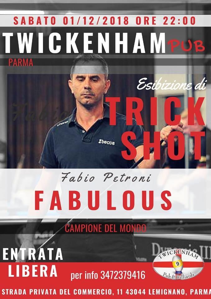 Esibizione di TRICK SHOT al TWICKENHAM PUB