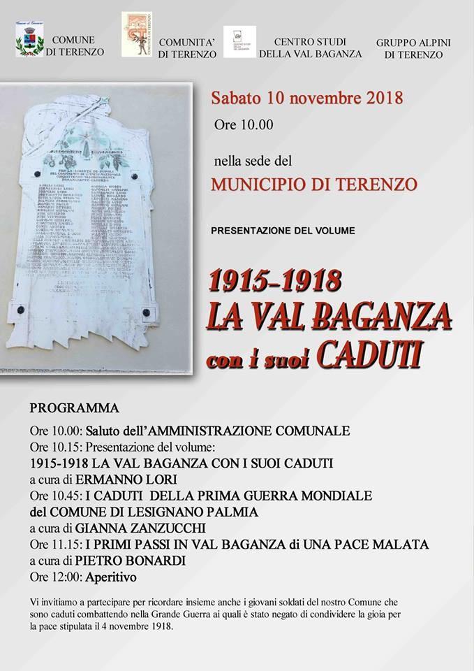 1915-1918 La val Baganza con i suoi caduti