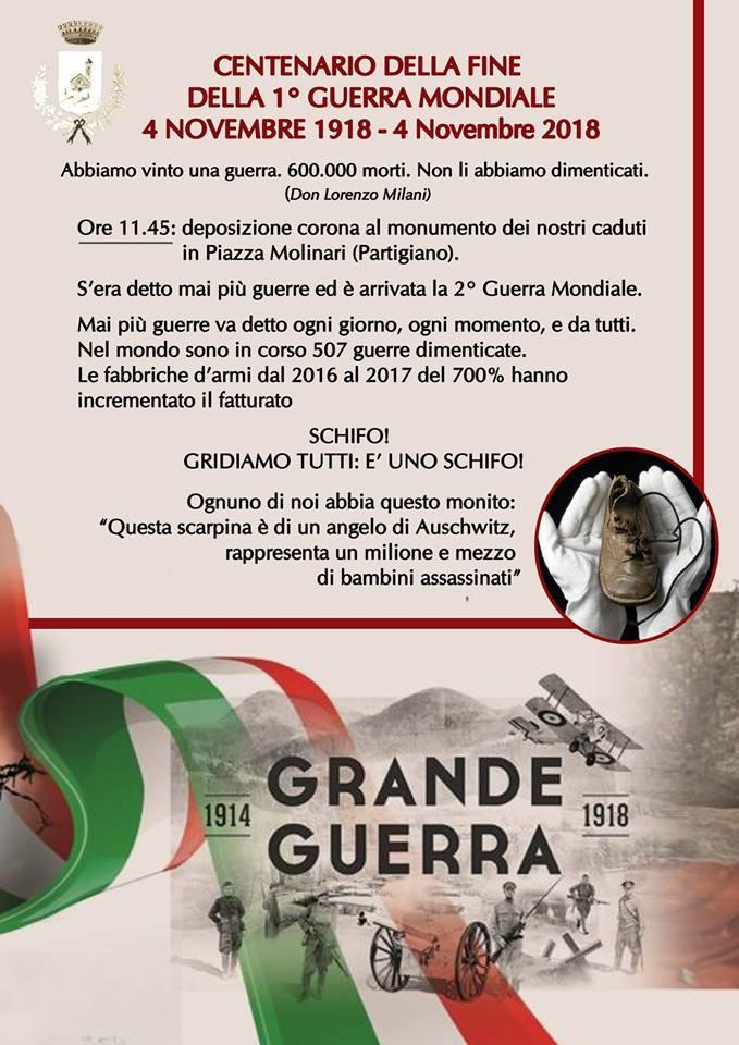 4 novembre GIORNO DELL'UNITÀ NAZIONALE E FESTA DELLE FORZE  ARMATE  a Berceto