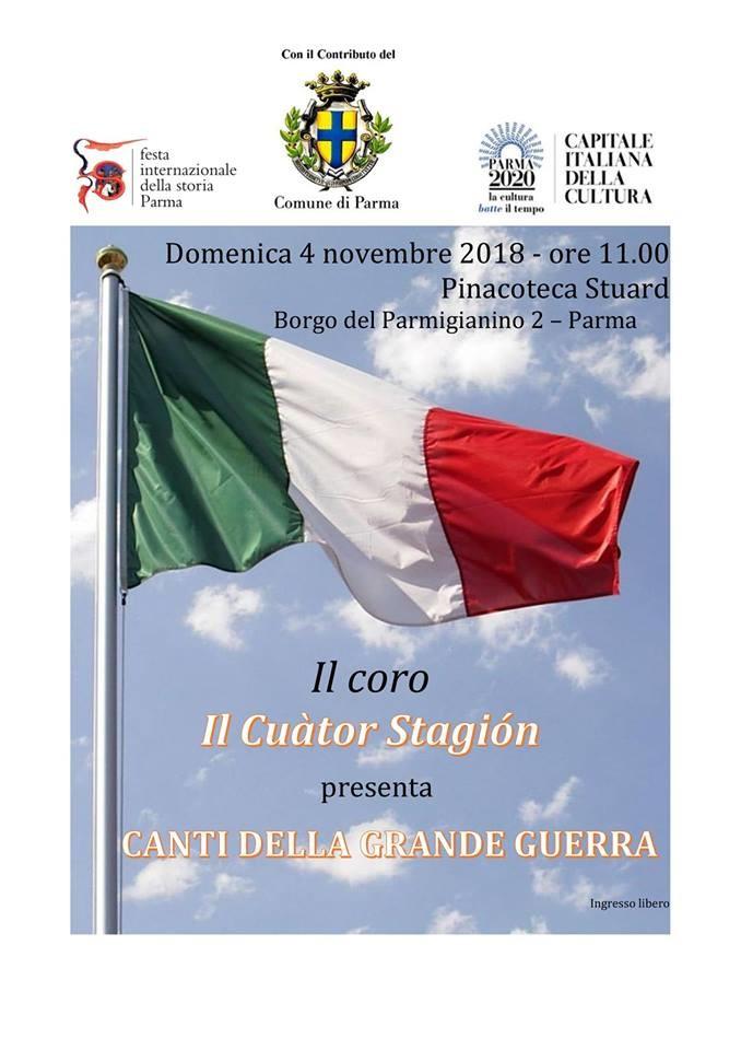 """Festival internazionale della storia:  """"Canti della grande guerra"""""""