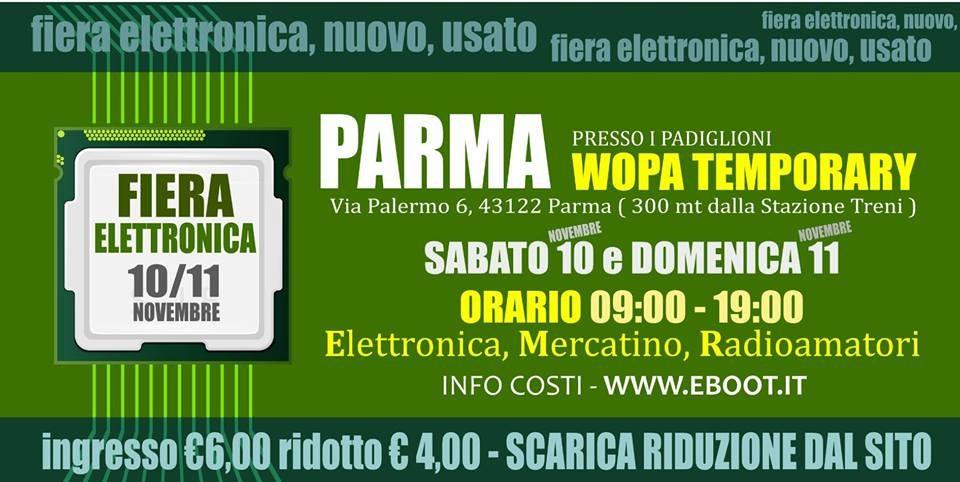 Fiera elettronica e radioamatore a Parma