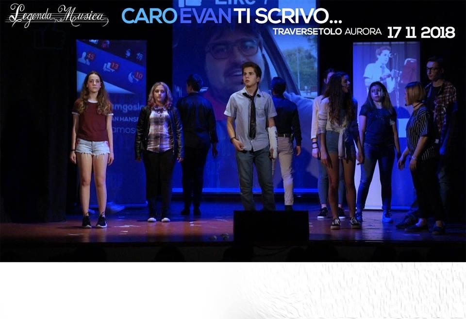"""""""CARO EVAN TI SCRIVO...""""  al Teatro Aurora di Traversetolo"""