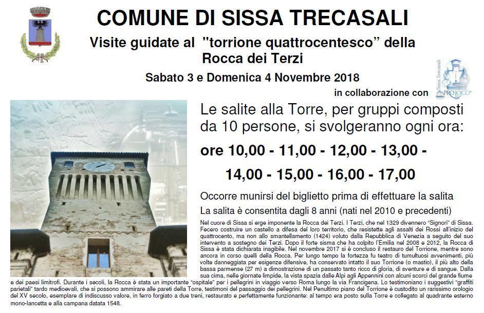 Visita al  torrione quattrocentesco della Rocca dei Terzi