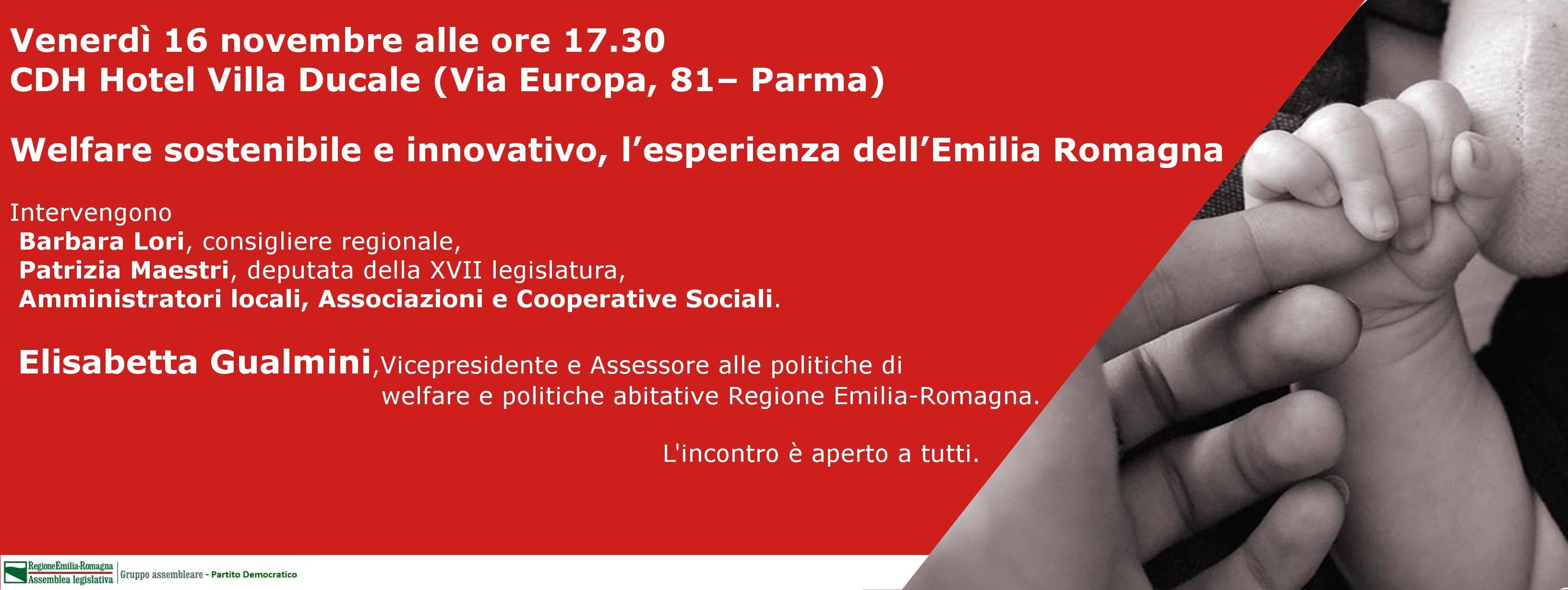 """Welfare sostenibile e innovativo, l'esperienza dell'Emilia Romagna""""."""
