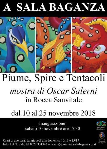 "Mostra ""Piume, spire e tentacoli""  di Oscar Salerni in Rocca di Sala Baganza"