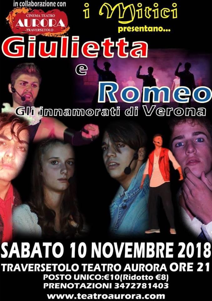 """""""GIULIETTA E ROMEO Gli innamorati di Verona""""  al Teatro Aurora di Traversetolo"""